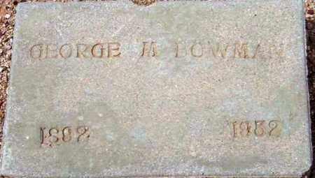 BOWMAN, GEORGE WILEY - Maricopa County, Arizona   GEORGE WILEY BOWMAN - Arizona Gravestone Photos