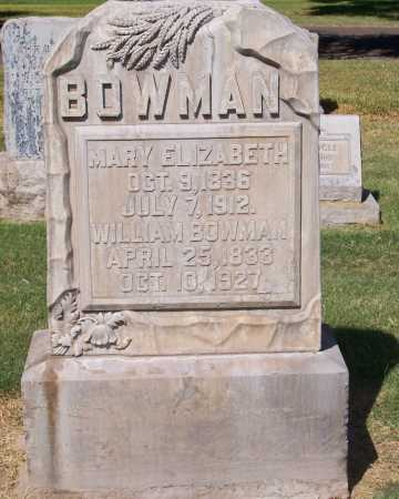 BOWMAN, MARY ELIZABETH - Maricopa County, Arizona | MARY ELIZABETH BOWMAN - Arizona Gravestone Photos