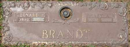 BRANDT, LEONARD H. - Maricopa County, Arizona | LEONARD H. BRANDT - Arizona Gravestone Photos