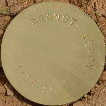 BRANDT, LEROY - Maricopa County, Arizona   LEROY BRANDT - Arizona Gravestone Photos