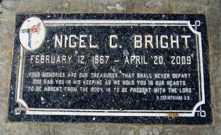 BRIGHT, NIGEL C. - Maricopa County, Arizona | NIGEL C. BRIGHT - Arizona Gravestone Photos