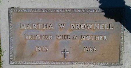 BROWNELL, MARTHA W - Maricopa County, Arizona | MARTHA W BROWNELL - Arizona Gravestone Photos