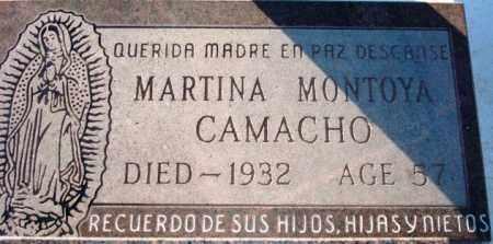 MONTOYA CAMACHO, MARTINA - Maricopa County, Arizona | MARTINA MONTOYA CAMACHO - Arizona Gravestone Photos