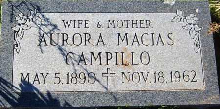CAMPILLO, AURORA MACIAS - Maricopa County, Arizona | AURORA MACIAS CAMPILLO - Arizona Gravestone Photos