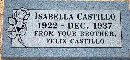 CASTILLO, ISABELLA - Maricopa County, Arizona | ISABELLA CASTILLO - Arizona Gravestone Photos