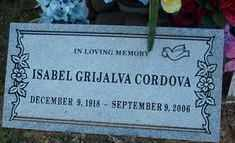 CORDOVA, ISABEL - Maricopa County, Arizona | ISABEL CORDOVA - Arizona Gravestone Photos