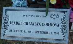 GRIJALVA CORDOVA, ISABEL - Maricopa County, Arizona | ISABEL GRIJALVA CORDOVA - Arizona Gravestone Photos