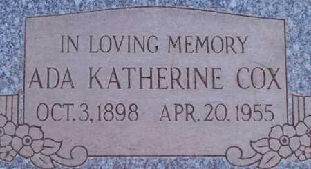COX, ADA KATHERINE - Maricopa County, Arizona   ADA KATHERINE COX - Arizona Gravestone Photos