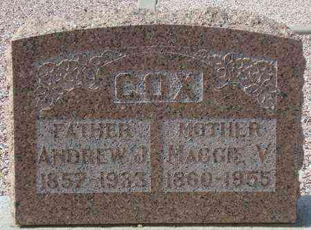 COX, ANDREW J. - Maricopa County, Arizona | ANDREW J. COX - Arizona Gravestone Photos