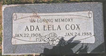 COX, ADA LELA - Maricopa County, Arizona   ADA LELA COX - Arizona Gravestone Photos