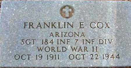 COX, FRANKLIN E. - Maricopa County, Arizona | FRANKLIN E. COX - Arizona Gravestone Photos