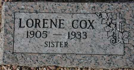 COX, LORENE - Maricopa County, Arizona   LORENE COX - Arizona Gravestone Photos