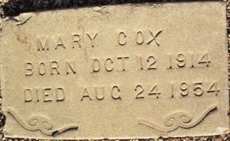 COX, MARY - Maricopa County, Arizona | MARY COX - Arizona Gravestone Photos