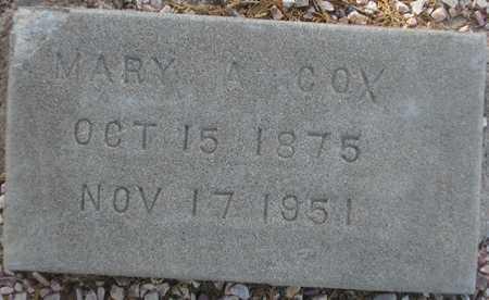 COX, MARY A. - Maricopa County, Arizona | MARY A. COX - Arizona Gravestone Photos