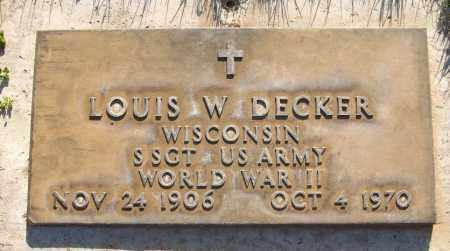 DECKER, LOUIS W. - Maricopa County, Arizona | LOUIS W. DECKER - Arizona Gravestone Photos