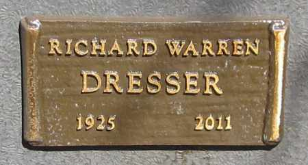 DRESSER, RICHARD WARREN - Maricopa County, Arizona   RICHARD WARREN DRESSER - Arizona Gravestone Photos