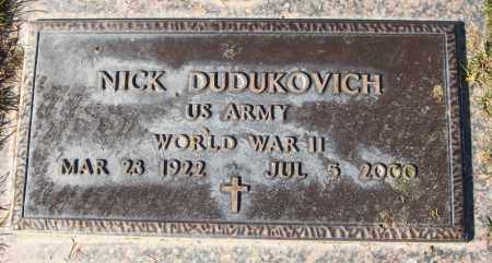 DUDUKOVICH, NICK - Maricopa County, Arizona | NICK DUDUKOVICH - Arizona Gravestone Photos