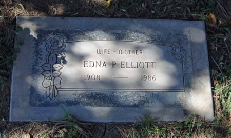 ELLIOTT, EDNA P. - Maricopa County, Arizona | EDNA P. ELLIOTT - Arizona Gravestone Photos