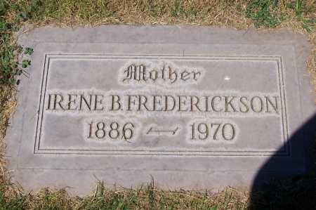 FREDERICKSON, IRENE B. - Maricopa County, Arizona   IRENE B. FREDERICKSON - Arizona Gravestone Photos