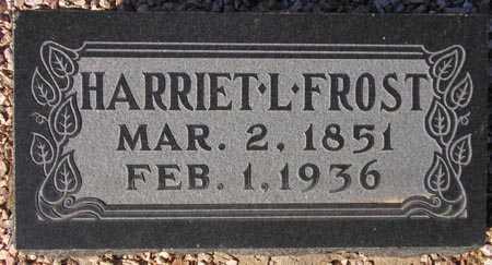 FROST, HARRIET L. - Maricopa County, Arizona   HARRIET L. FROST - Arizona Gravestone Photos