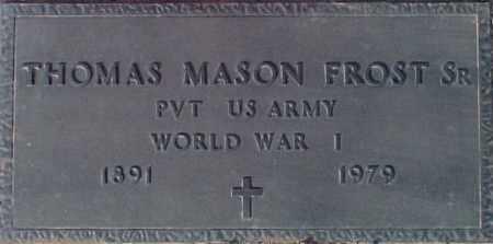 FROST, THOMAS MASON, SR. - Maricopa County, Arizona | THOMAS MASON, SR. FROST - Arizona Gravestone Photos