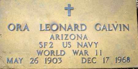 GALVIN, ORA LEONARD - Maricopa County, Arizona | ORA LEONARD GALVIN - Arizona Gravestone Photos