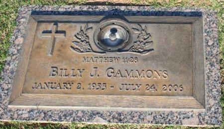 GAMMONS, BILLY J - Maricopa County, Arizona | BILLY J GAMMONS - Arizona Gravestone Photos