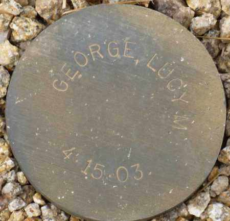 GEORGE, LUCY M. - Maricopa County, Arizona   LUCY M. GEORGE - Arizona Gravestone Photos