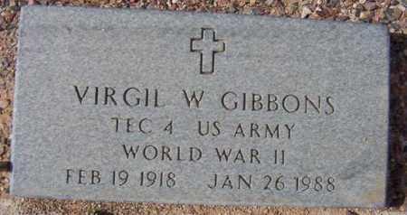 GIBBONS, VIRGIL W. - Maricopa County, Arizona | VIRGIL W. GIBBONS - Arizona Gravestone Photos