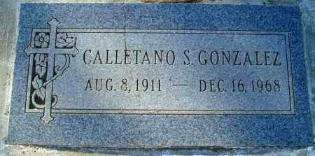 GONZALEZ, CALLETANO S. - Maricopa County, Arizona   CALLETANO S. GONZALEZ - Arizona Gravestone Photos