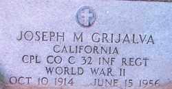 GRIJALVA, JOSEPH M. - Maricopa County, Arizona | JOSEPH M. GRIJALVA - Arizona Gravestone Photos