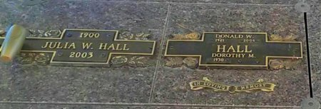 HALL, DONALD W. - Maricopa County, Arizona | DONALD W. HALL - Arizona Gravestone Photos