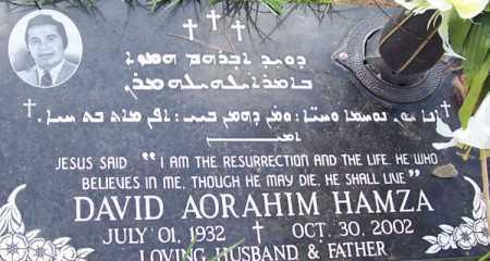 HAMZA, DAVID AORAHIM - Maricopa County, Arizona | DAVID AORAHIM HAMZA - Arizona Gravestone Photos