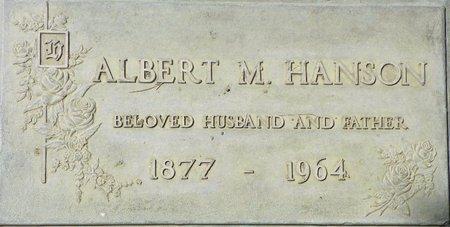HANSON, ALBERT M - Maricopa County, Arizona   ALBERT M HANSON - Arizona Gravestone Photos