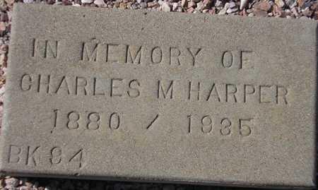 HARPER, CHARLES M. - Maricopa County, Arizona | CHARLES M. HARPER - Arizona Gravestone Photos