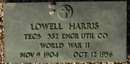 HARRIS, LOWELL - Maricopa County, Arizona | LOWELL HARRIS - Arizona Gravestone Photos