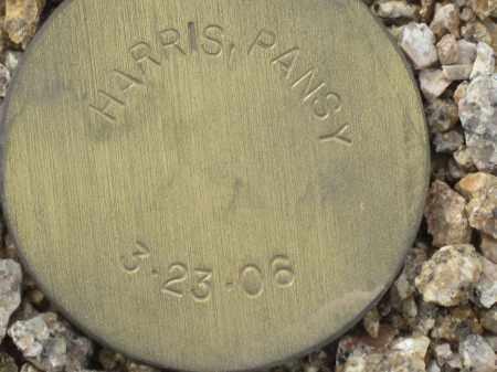 HARRIS, PANSY - Maricopa County, Arizona | PANSY HARRIS - Arizona Gravestone Photos