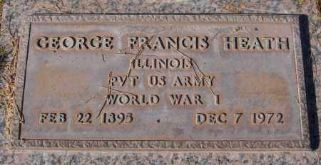 HEATH, GEORGE FRANCIS - Maricopa County, Arizona   GEORGE FRANCIS HEATH - Arizona Gravestone Photos