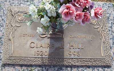 HILL, CLAIRE J. - Maricopa County, Arizona | CLAIRE J. HILL - Arizona Gravestone Photos