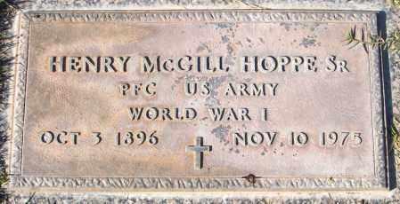 HOPPE, HENRY MCGILL, SR. - Maricopa County, Arizona   HENRY MCGILL, SR. HOPPE - Arizona Gravestone Photos