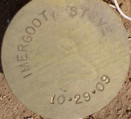 IMERGOOT, STEVE - Maricopa County, Arizona | STEVE IMERGOOT - Arizona Gravestone Photos