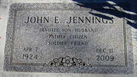 JENNINGS, JOHN E. - Maricopa County, Arizona | JOHN E. JENNINGS - Arizona Gravestone Photos