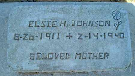 JOHNSON, ELSIE H. - Maricopa County, Arizona | ELSIE H. JOHNSON - Arizona Gravestone Photos