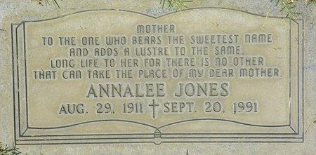 JONES, ANNALEE - Maricopa County, Arizona | ANNALEE JONES - Arizona Gravestone Photos
