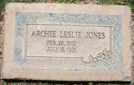 JONES, ARCHIE LESLIE - Maricopa County, Arizona | ARCHIE LESLIE JONES - Arizona Gravestone Photos