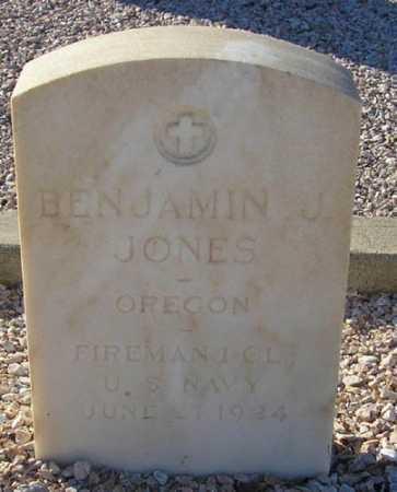 JONES, BENJAMIN J. - Maricopa County, Arizona | BENJAMIN J. JONES - Arizona Gravestone Photos