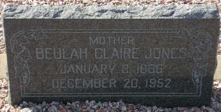 JONES, BEULAH CLAIRE - Maricopa County, Arizona   BEULAH CLAIRE JONES - Arizona Gravestone Photos