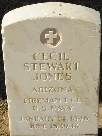 JONES, CECIL STEWART - Maricopa County, Arizona | CECIL STEWART JONES - Arizona Gravestone Photos