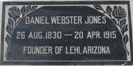 JONES, DANIEL WEBSTER - Maricopa County, Arizona   DANIEL WEBSTER JONES - Arizona Gravestone Photos