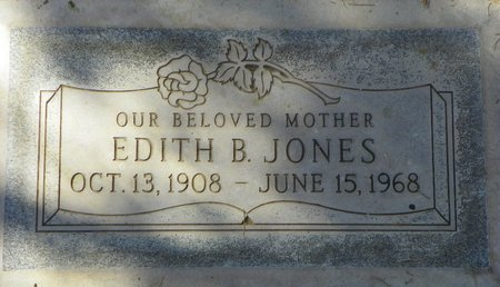 JONES, EDITH B - Maricopa County, Arizona | EDITH B JONES - Arizona Gravestone Photos